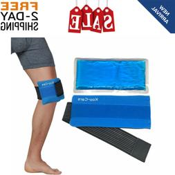 Flexible Gel Ice Pack and Wrap With Elastic Strap For Hot Co