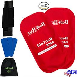 BODY HELP Flexible Reusable Ice Gel Packs 2PCS for Immediate