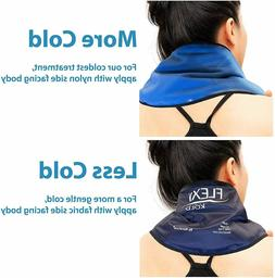 FlexiKold Gel Neck Ice Pack w/Straps  - 6301 Cold-Strap