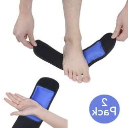 Foot&Ankle Ice Pack Wrap-2 Gel Packs for Pain Relief -Hot/Co