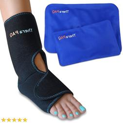 Foot & Ankle Pain Relief Ice Wrap with 2 Hot / Cold Gel Pack