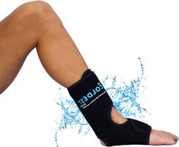 Foot Ankle Achilles Pain Relief Ice Wrap with 2 Cold Gel Pac