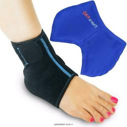 Foot & Ankle Ice Wrap with Hot & Cold Gel Pack by TheraPAQ |