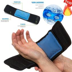 Gel Ice Pack Wrap Hot Cold Therapy Strap For Knee Leg Ankle