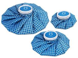 HomeTop 3 Pack Healthcare Reusable Ice Bag Pack for Cold The