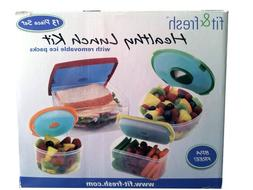 Fit & Fresh Healthy Lunch Kit with Removable Ice Packs 13 Pi