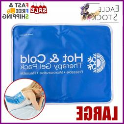 Hot Cold Compress Therapy Pad Gel Ice Pack Body Back Pain Re