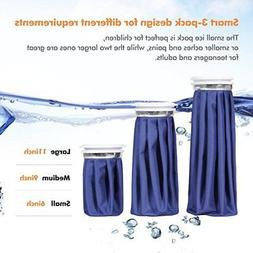 US 3 Sizes Healthcare Reusable Ice Bag Pack for Hot Cold The