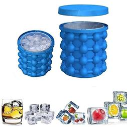 New Ice Cube Maker Genie silicone, Ice bucket The Revolution