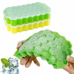 Ice Cube Trays 2 Pack Silicone Ice Cube Molds with Removable