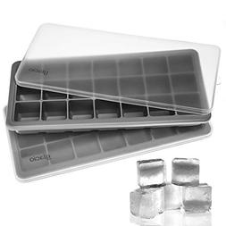 glacio Ice Cube Trays Silicone with Lids - Covered Flexible