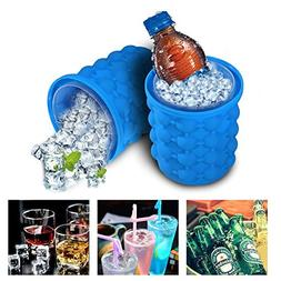 2 Pack Ice Genie Cube Maker Dual-use Ice Cube Maker Silicone