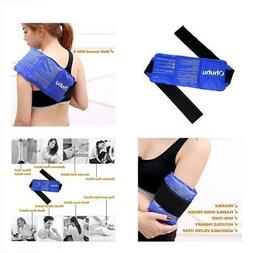 Ice Pack For Injuries, Reusable Gel Cold & Hot Therapy With