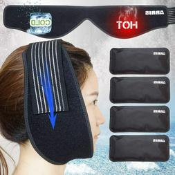 Ice Pack for Jaw, Chin, Face Head Hot Cold Therapy Wrap with