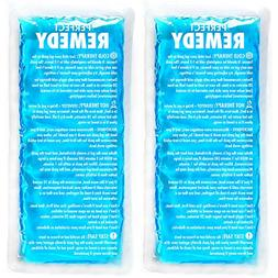 Gel Ice Packs for Injuries  – Soft Reusable Cold/Hot Compr
