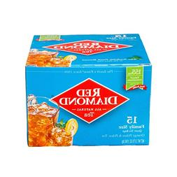 Red Diamond All Natural Iced Tea Bags Family Quart Size, 15