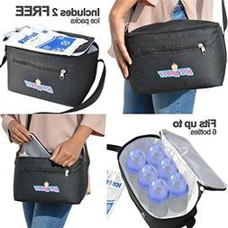 HYEBABYY Insulated Breastmilk Cooler Bag Kit With 2 FREE Ice