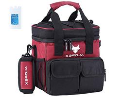 ALOPEX Insulated Lunch Bag 24 Can Cooler Bag Large Pocket Ad