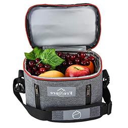 Freshore Insulated Lunch Kit Tote Slim Box Small Bags for Wo