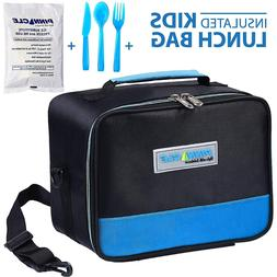 Insulated Reusable Lunch Bag For Kids With GEL ICE PACK And