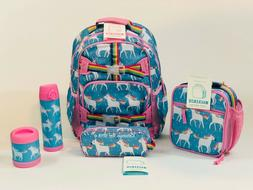 Pottery Barn Kids Unicorn LARGE Backpack Girls Lunch Water T
