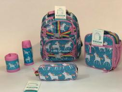 Pottery Barn Kids Unicorn SMALL Backpack Girls Lunch Water T