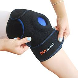 Knee Ice Pack Wrap by TheraPAQ: Hot & Cold Therapy Knee Supp