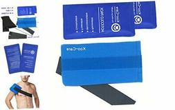 Koo-Care 2 Flexible Gel Ice Pack and 1 Wrap with Elastic Str