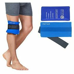 Koo-Care Flexible Gel Ice Pack & Wrap with Elastic Strap Med