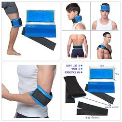Koo-Care Flexible Gel Ice Pack Wrap with Elastic Strap for H
