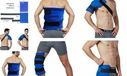 Koo-Care Large Flexible Gel Ice Pack & Wrap with Elastic Str