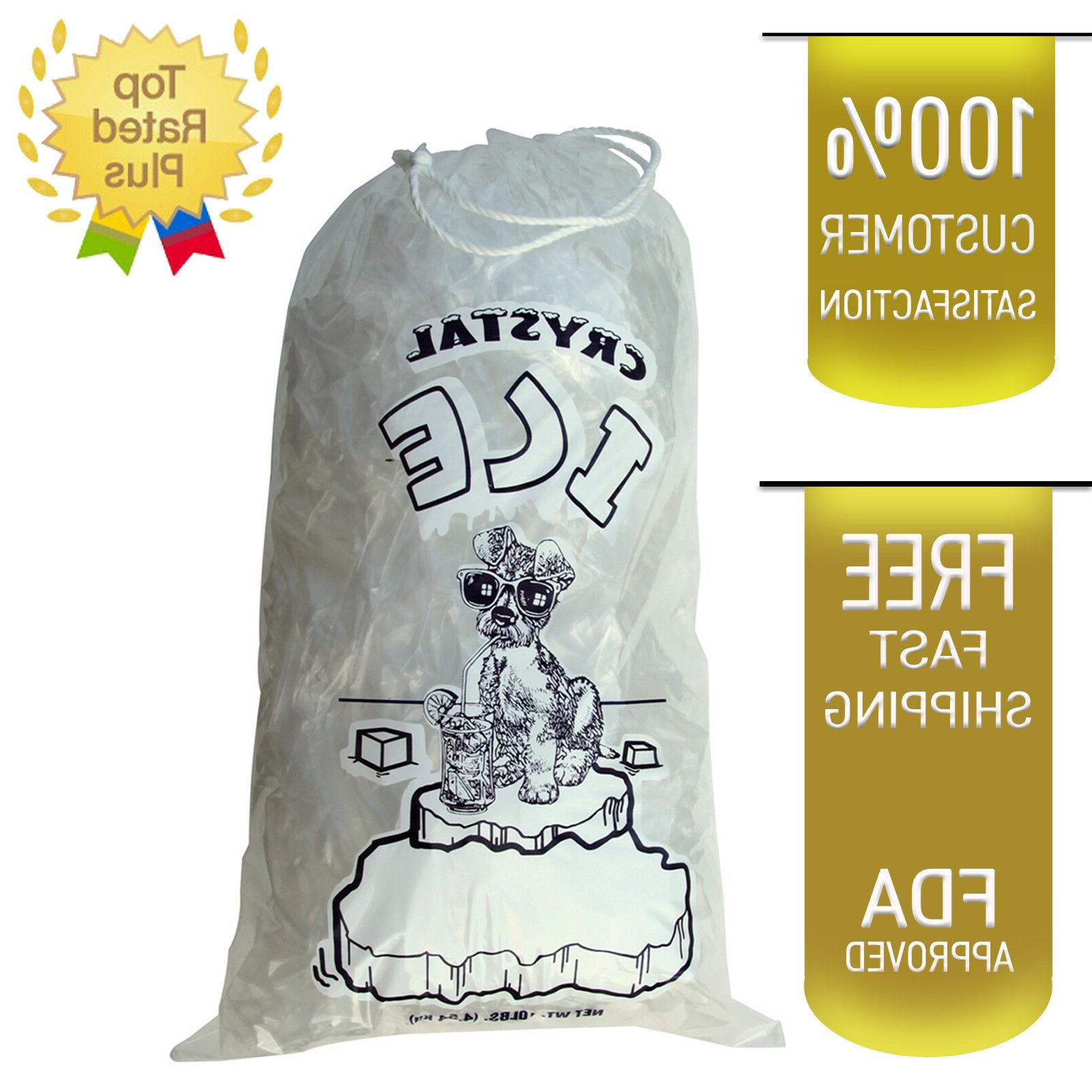 10 lb lbs commercial ice bag bags