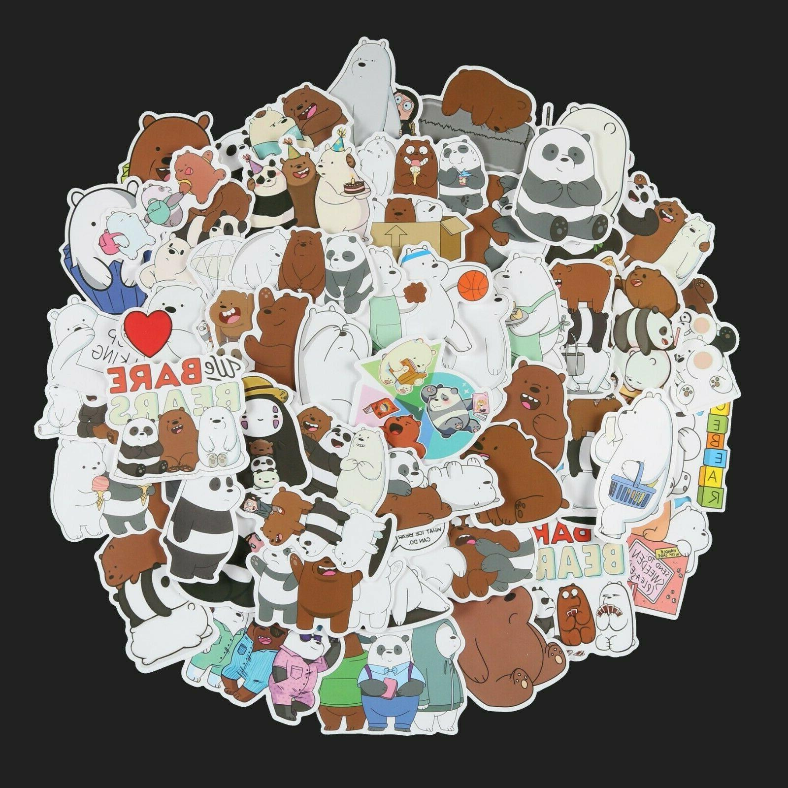 100pcs We Bears Stickers Pack, Stickers,