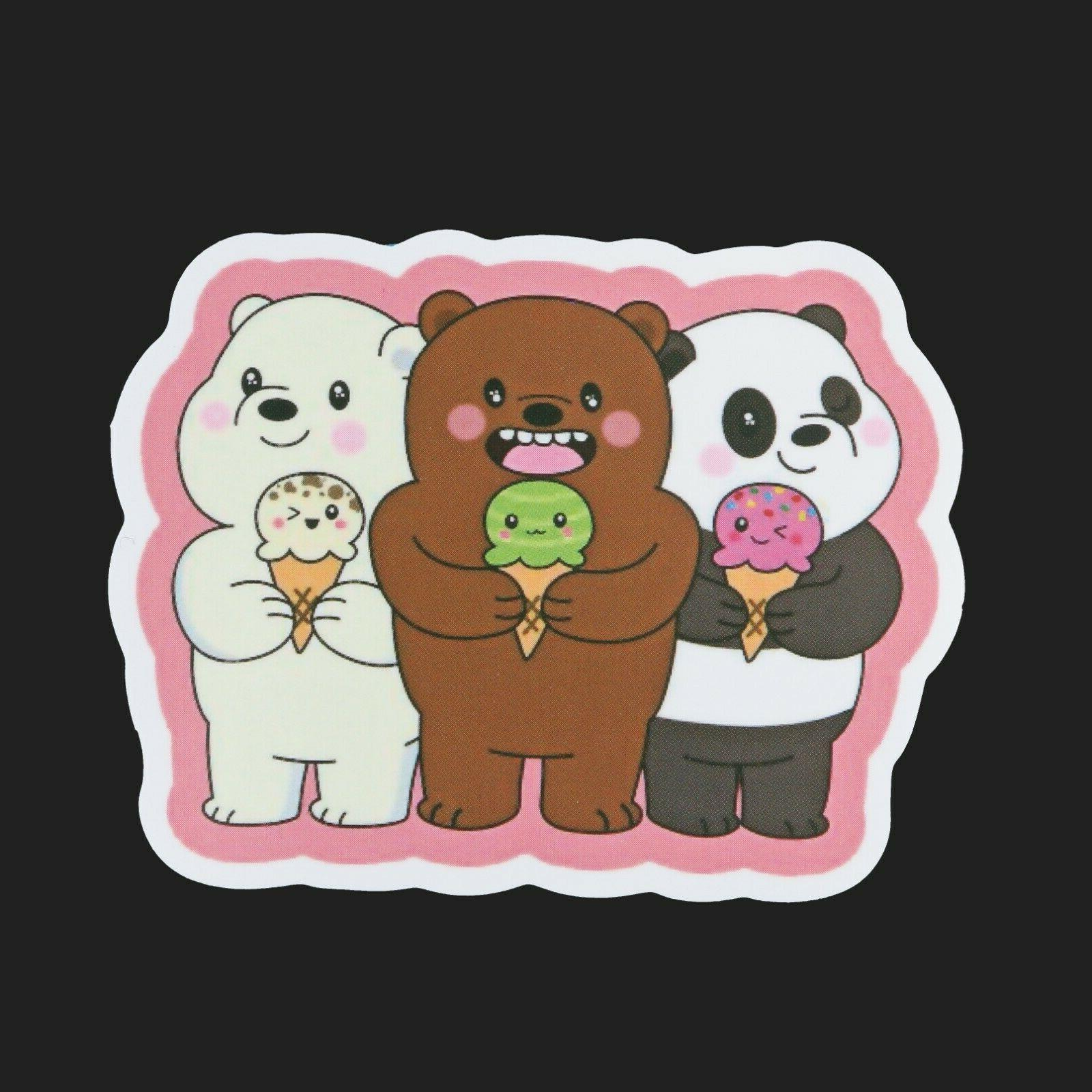 100pcs We Stickers Pack, Bear Stickers,