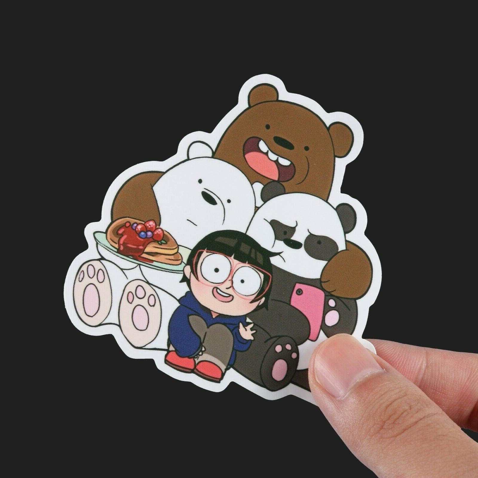 100pcs We Bare Bears Stickers Stickers, Cute