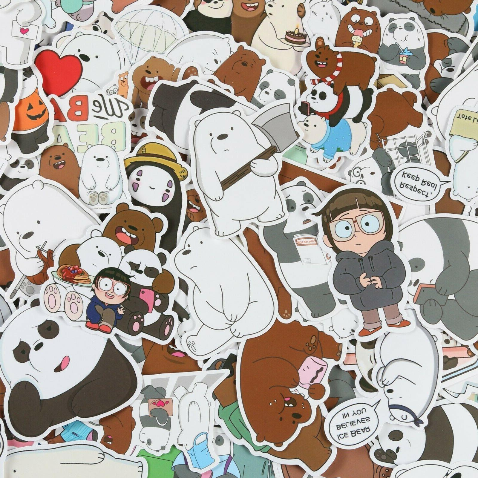 100pcs we bare bears stickers pack ice