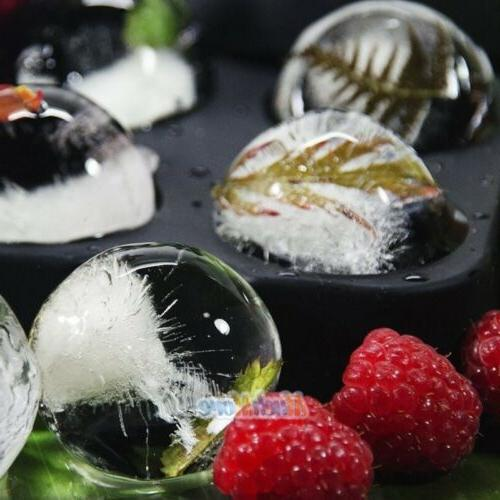 10x Round Silicon Ice Tray Sphere with