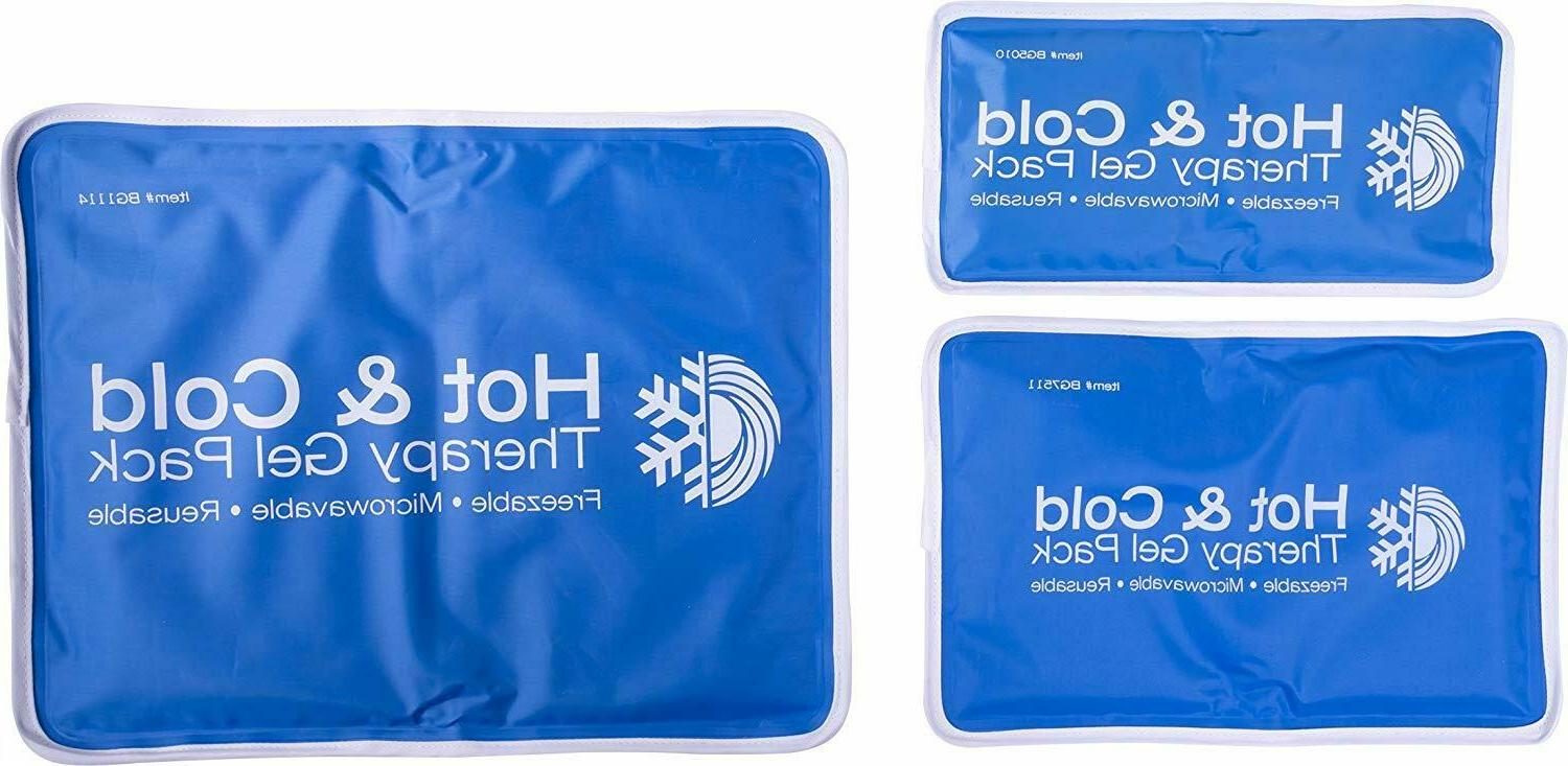 new Large Therapy Pad Reusable Gel Ice Relief Back