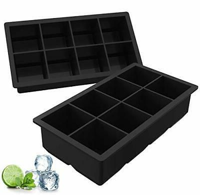2 pack silicone ice cube trays large