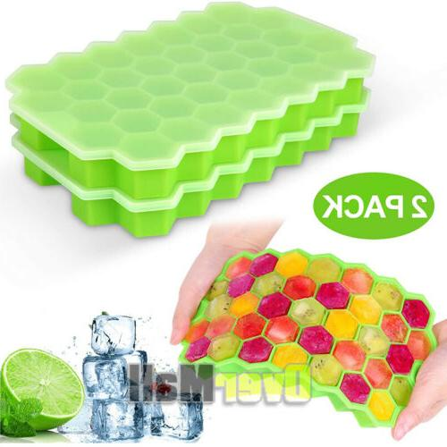 2Pack Honeycomb Cube Frozen Ice Mold New