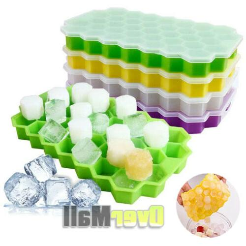 2pack honeycomb shape ice cube tray 37cubes