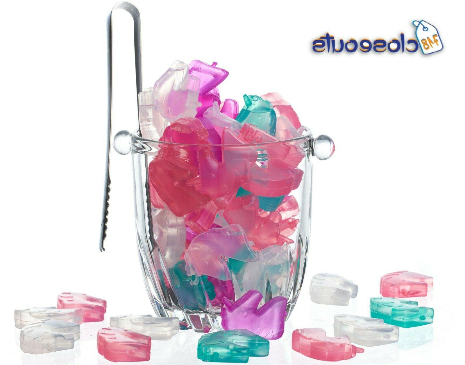 30 pack reusable plastic ice cubes fun