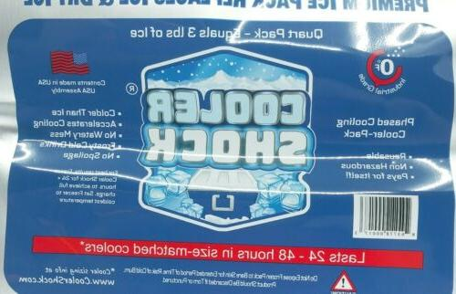 3x lg zerof cooler freeze packs 10x14