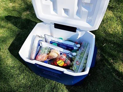 """Cooler 4 Size Freeze Packs 10""""x 9"""" More Ice Replaces & Reusable. Water"""
