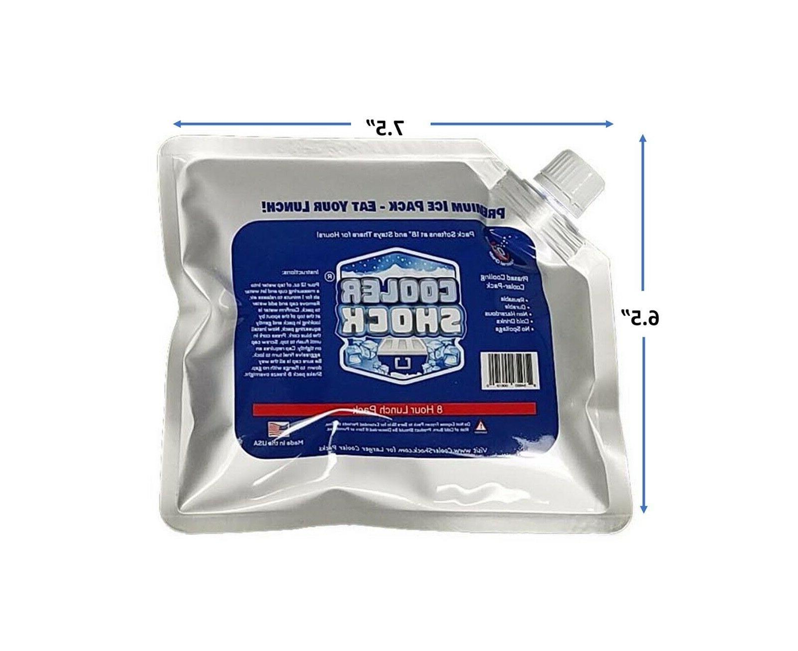 5 Pack of Cooler Shock Size Ice Packs Buy direct from Manufacturer!