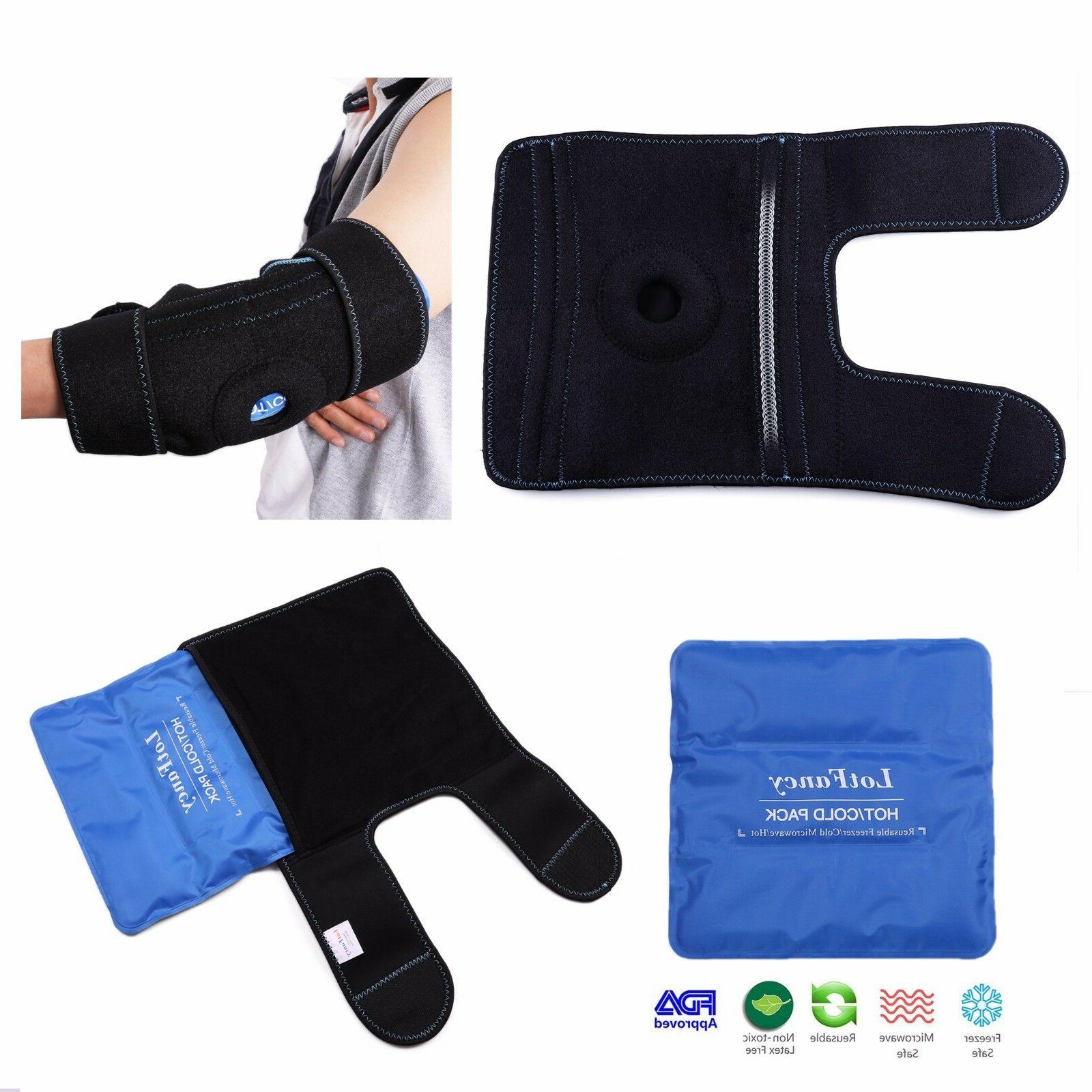 Arm Elbow Ice Support Sleeve Wrap Injuries