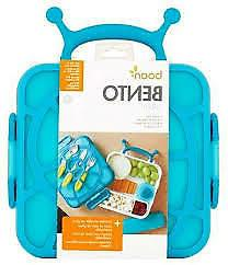 Boon Bento Snail Lunch Box, Bento Box With Ice Pack, Blue, A
