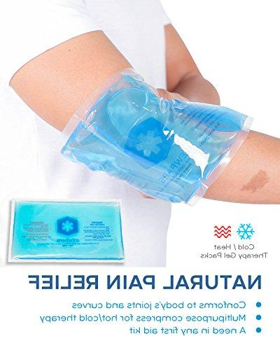 Blue 6x10 Reusable Ideal Ice Pack for Pain Relief Aid by IceWraps