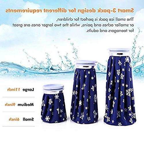 Ohuhu Cold Pack Reusable Ice 3 Pack Therapy Knee Injury