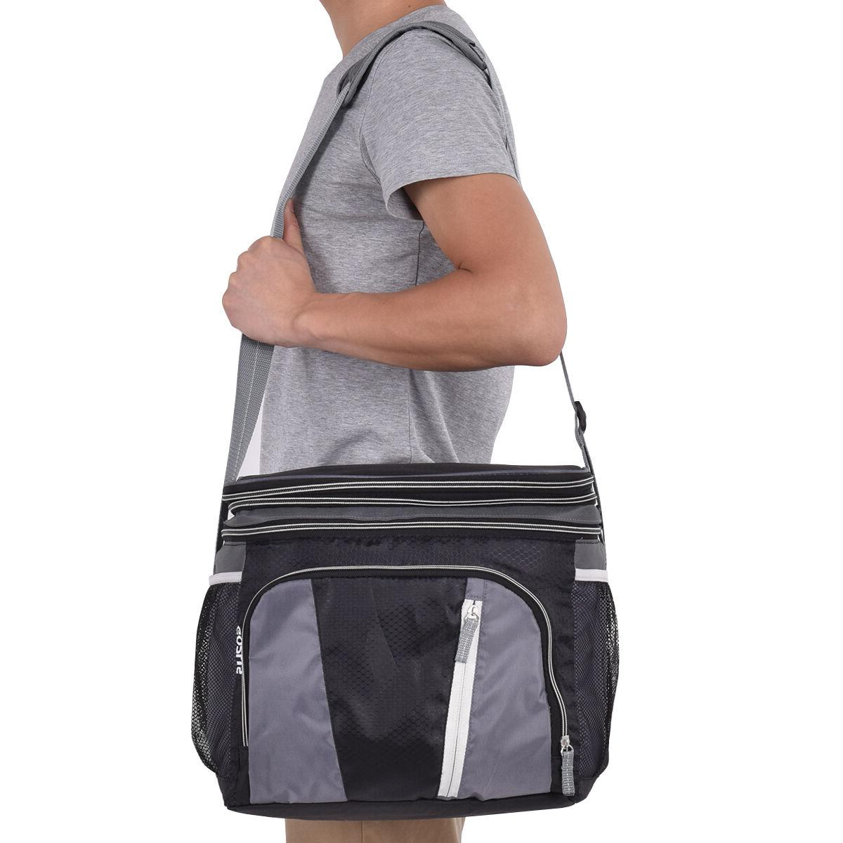 Double-layer Cooler Bag Can Pack Container Zipper